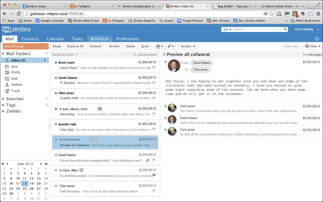 Zimbra Messagerie Collaborative Unified Collaboration Messaging Réseau Social d'Entreprise Exchange Open Source